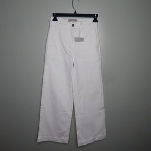 everlane women the wide leg crop pant white SZ 00
